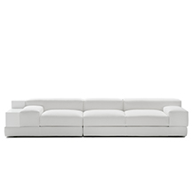 Italian designer sofa - Divano G101 with side shelf