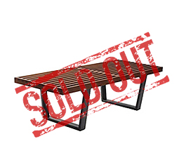 hardwood bench george nelson stock sales