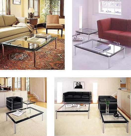 fauteuils canap s le corbusier quelle table basse. Black Bedroom Furniture Sets. Home Design Ideas