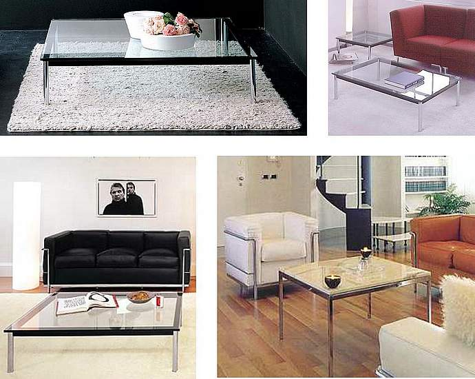 fauteuils canap s le corbusier quelle table basse. Black Bedroom Furniture Sets. Home Design Ideas