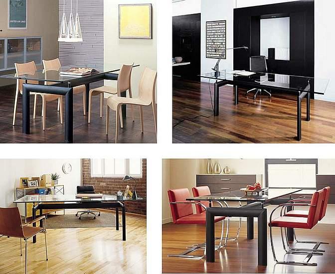 Mesa Acero y Cristal - Diseño : Le Corbusier-LC-10